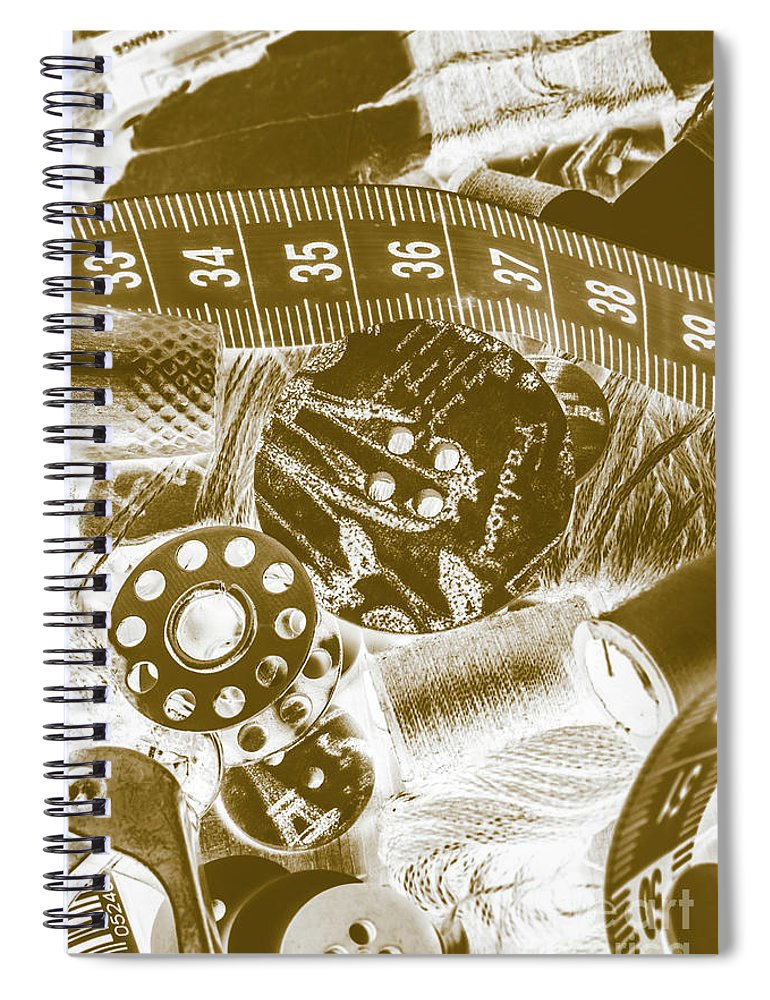 Textile Spiral Notebook featuring the photograph Woven To Worn by Jorgo Photography - Wall Art Gallery