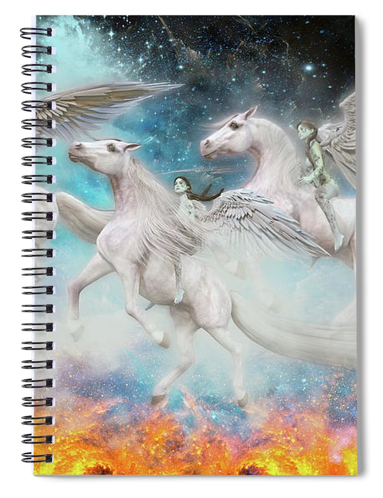 Angel Spiral Notebook featuring the digital art Wrinkles In Time by Betsy Knapp