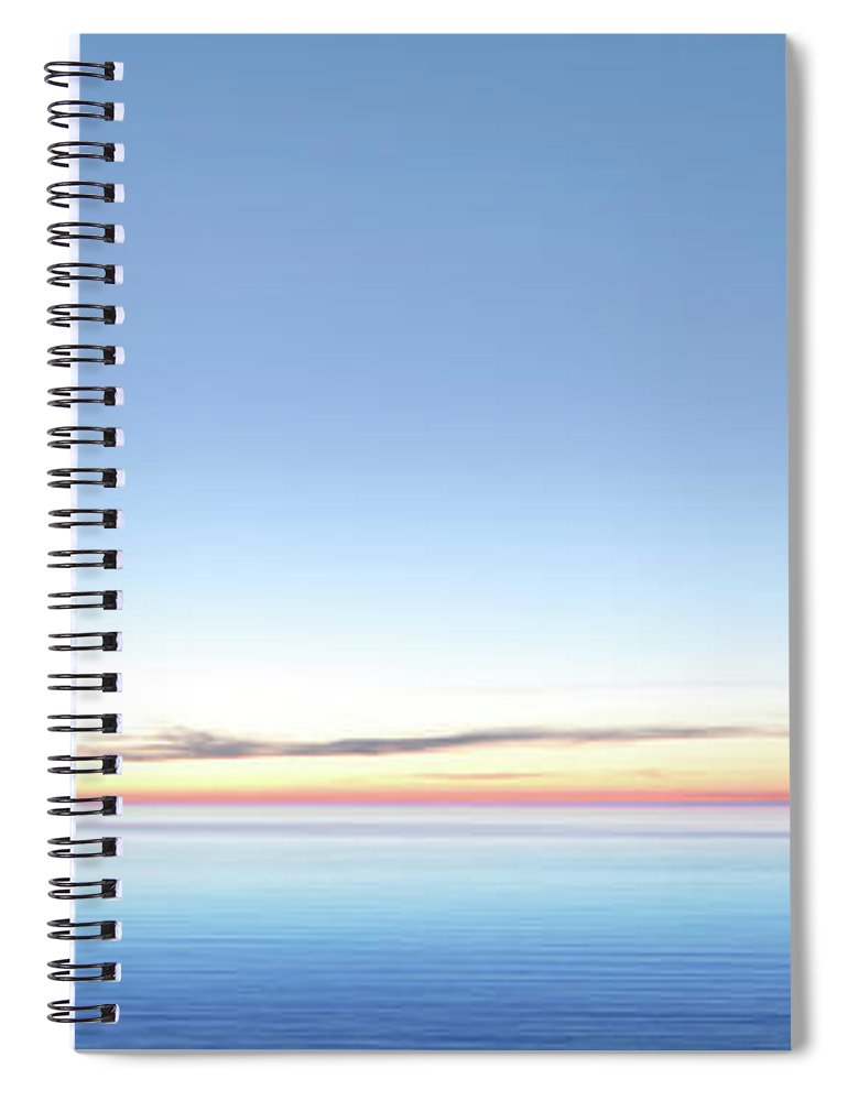 Lake Michigan Spiral Notebook featuring the photograph Xxl Serene Twilight Lake by Sharply done