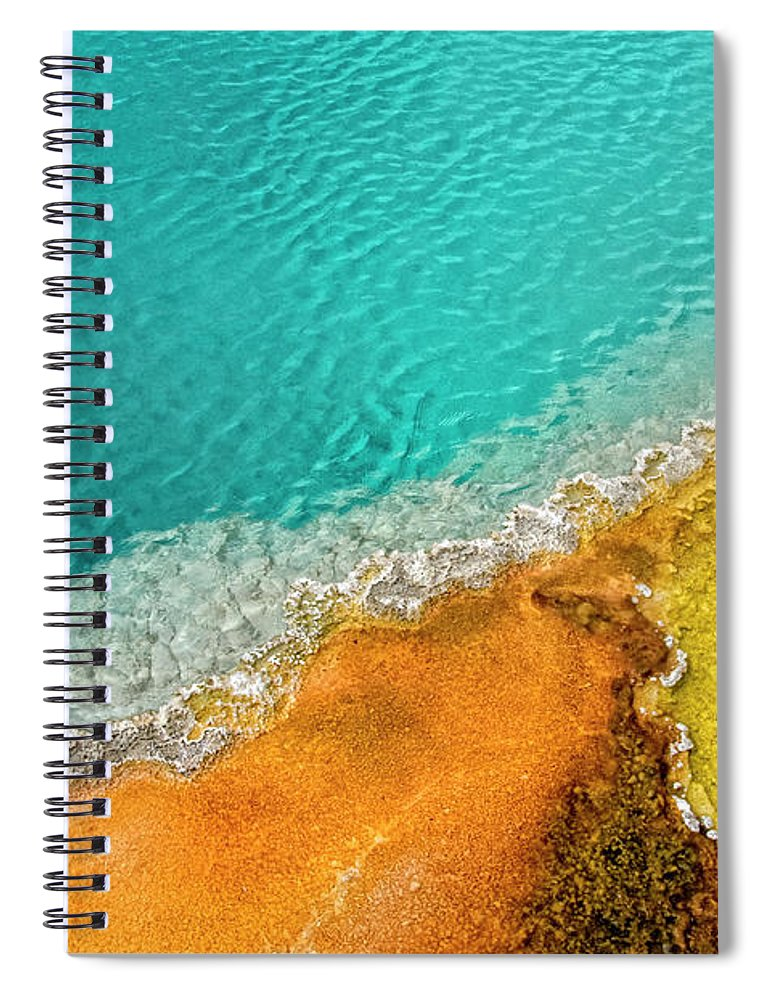 Geology Spiral Notebook featuring the photograph Yellowstone West Thumb Thermal Pool by Bill Wight Ca