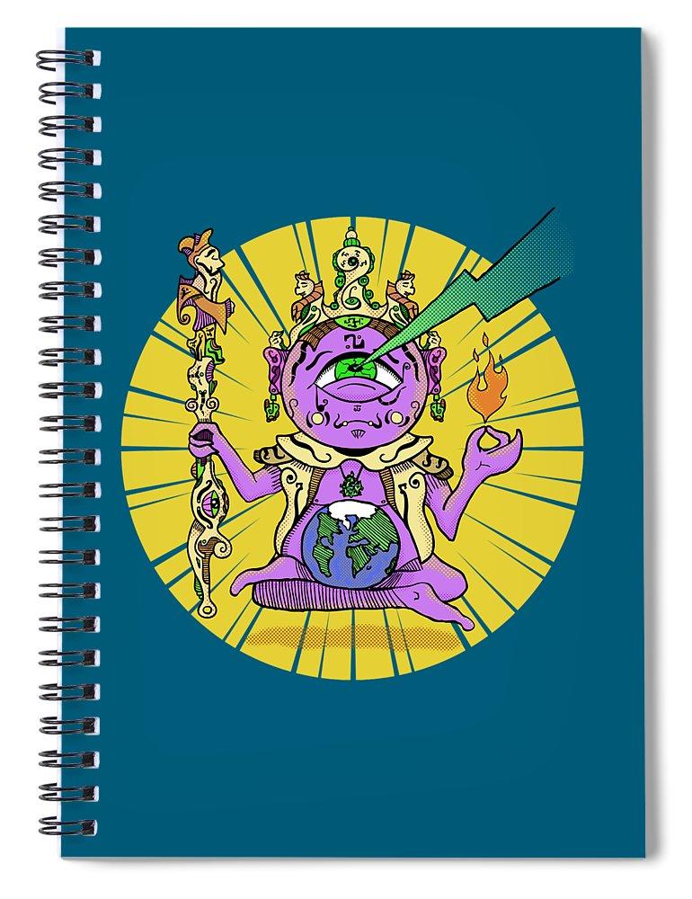 Buddhist Spiral Notebook featuring the digital art Zen by Sotuland Art