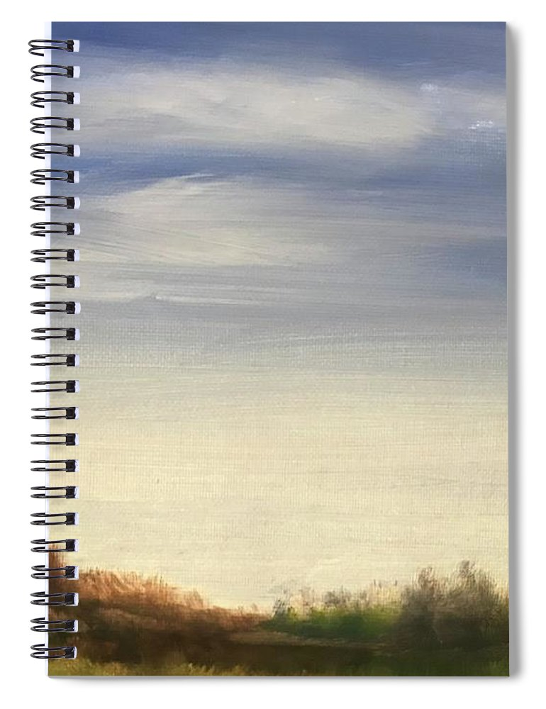 Blue Sky Landscape Spiral Notebook featuring the painting Blue Sky by Sheila Mashaw