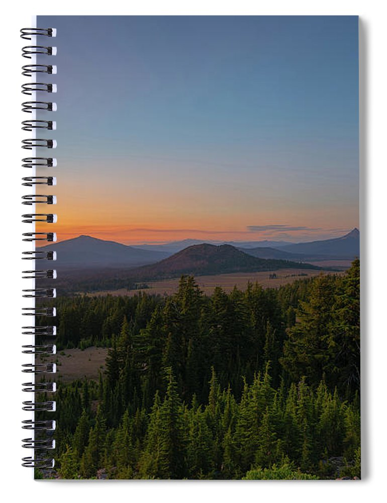 Crater Lake Spiral Notebook featuring the photograph Crater Lake Rim Drive At Dusk by Michael Ver Sprill
