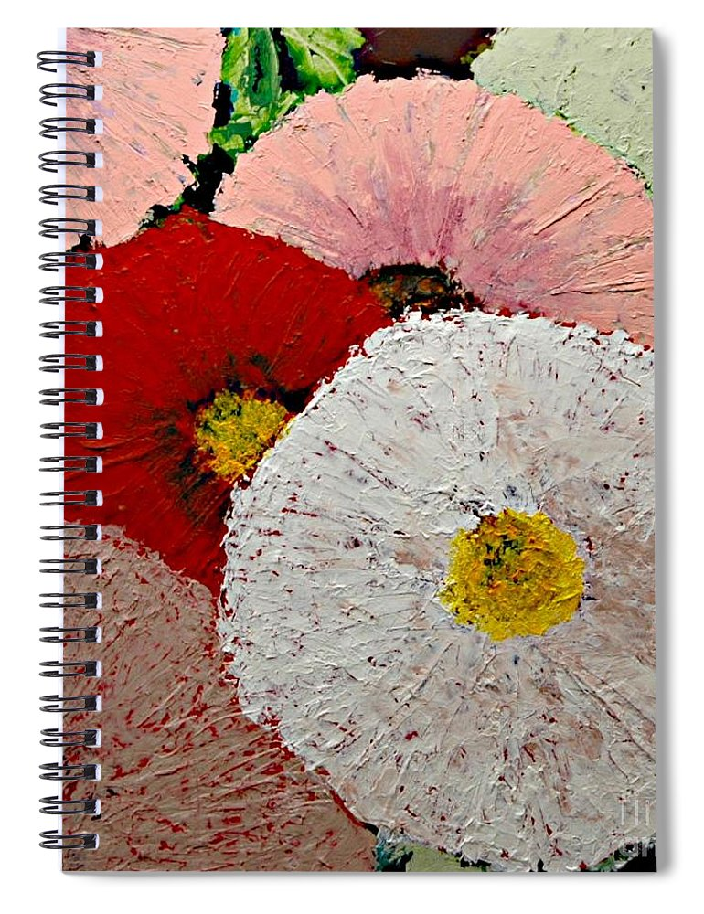 Landscape Spiral Notebook featuring the painting From the Garden by Allan P Friedlander
