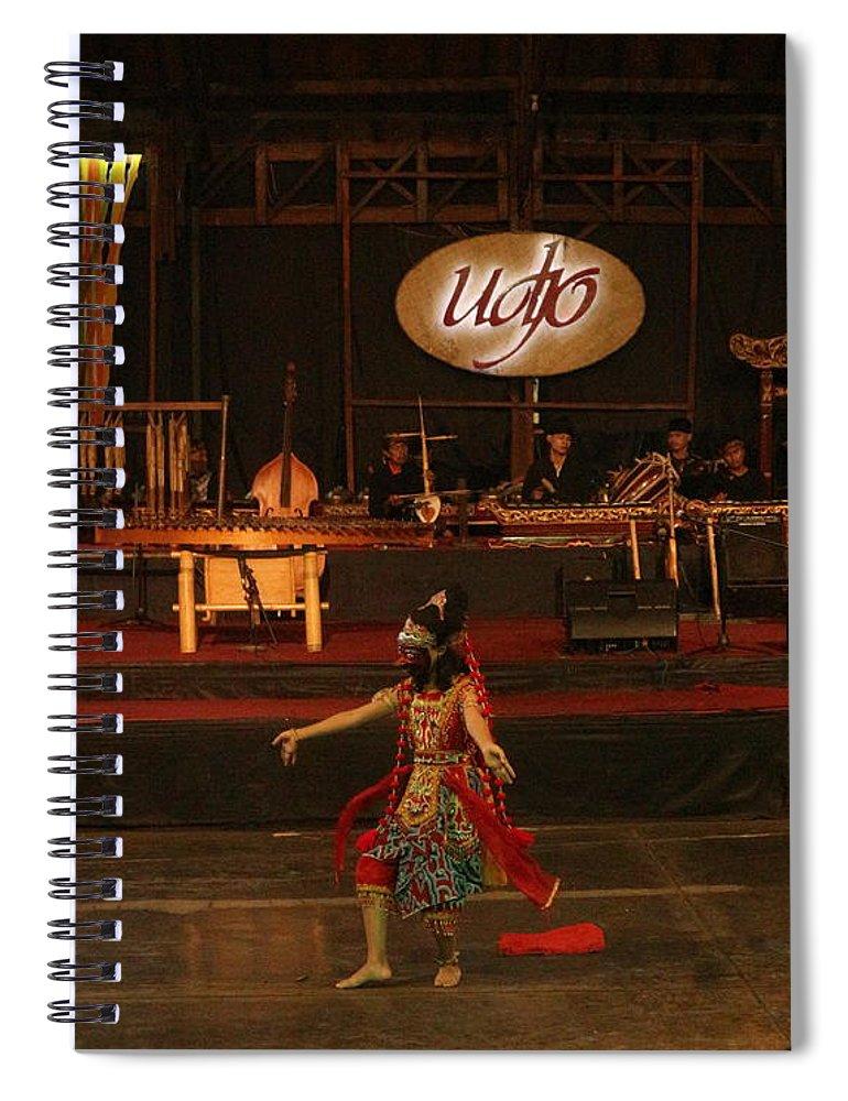 Dance Spiral Notebook featuring the photograph Mask Dance by Lingga Tiara Setiadi