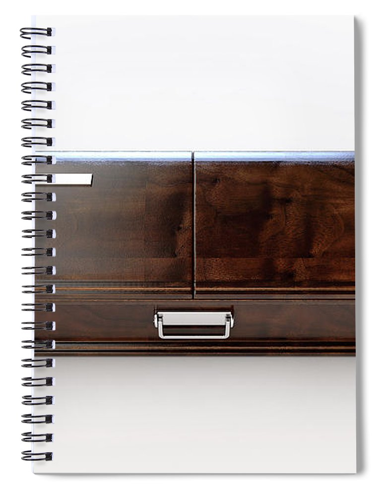 Coffin Spiral Notebook featuring the digital art Modern Coffin And Crucifix by Allan Swart