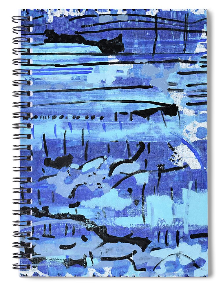Colorado Spiral Notebook featuring the painting Something Blue by Pam Roth O'Mara