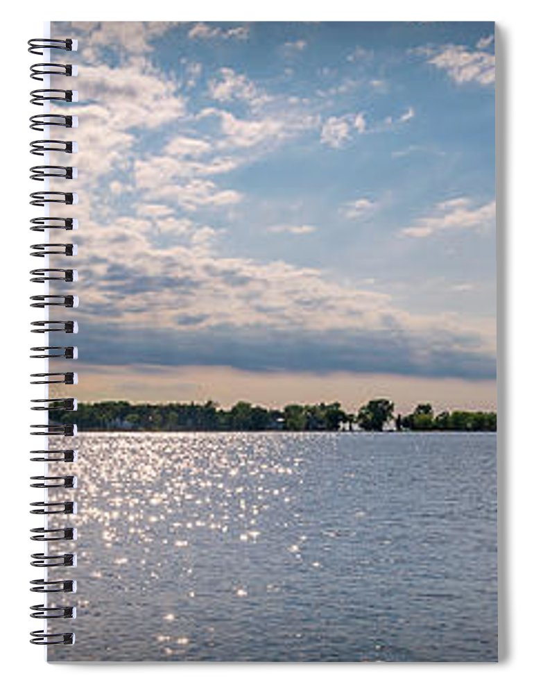 Panorama Spiral Notebook featuring the photograph 20-0607-0057 by Anthony Roma