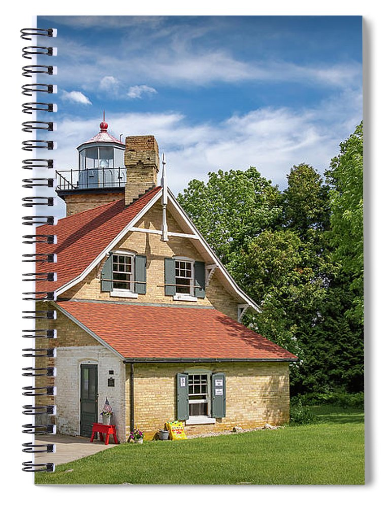 Lighthouse Spiral Notebook featuring the photograph 20-0608-0070 by Anthony Roma