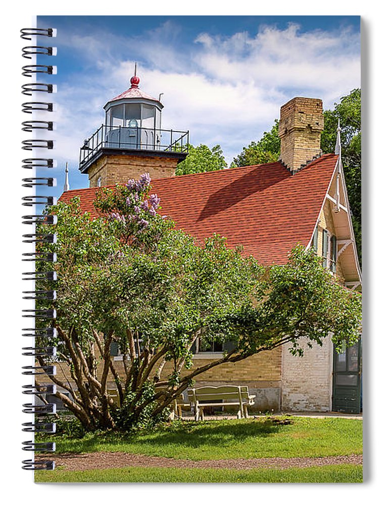 Lighthouse Spiral Notebook featuring the photograph 20-0608-0071 by Anthony Roma