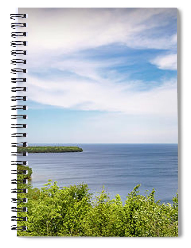 Panorama Spiral Notebook featuring the photograph 20-0608-0089 by Anthony Roma