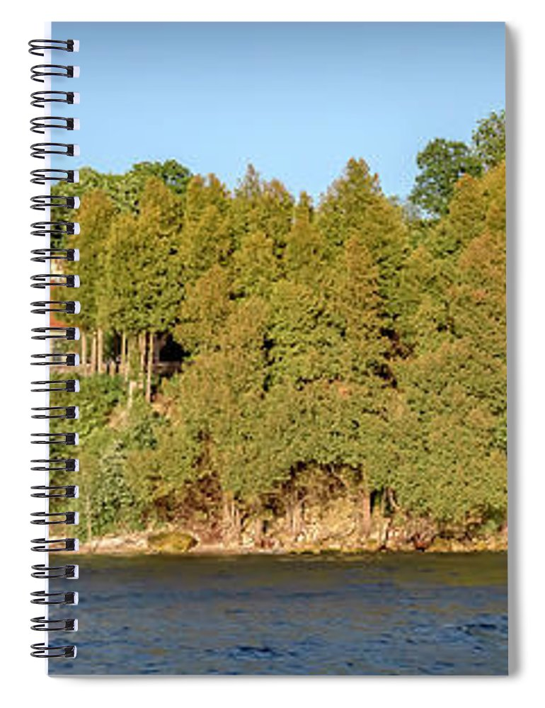 Lighthouse Spiral Notebook featuring the photograph 20-0608-0126 by Anthony Roma