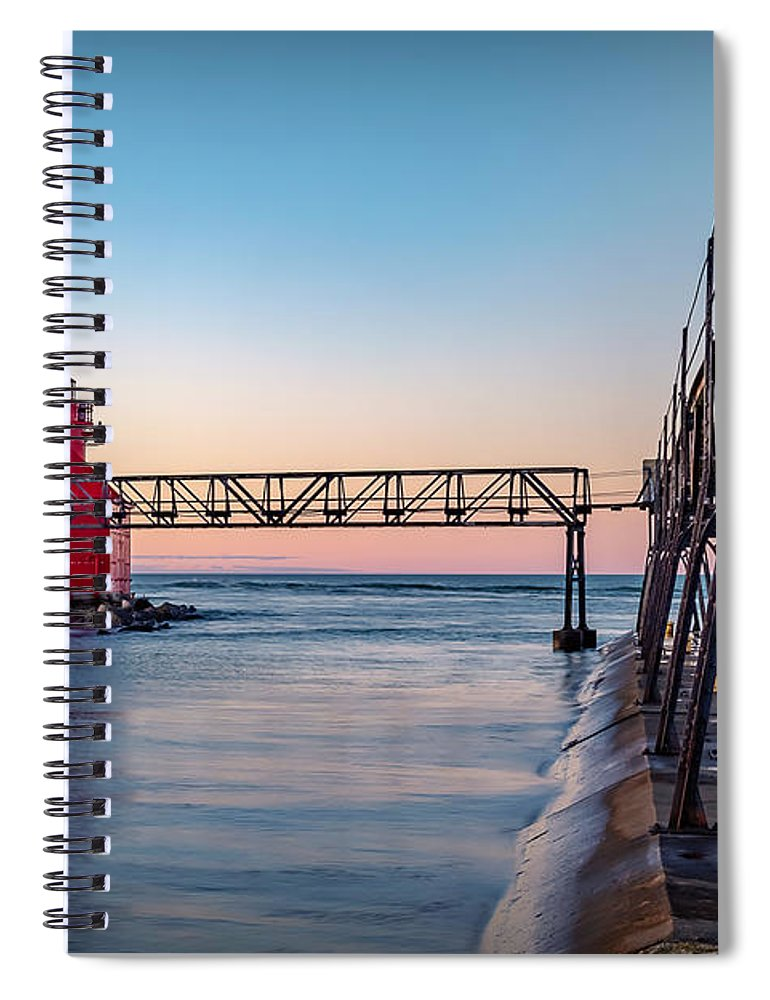 Lighthouse Spiral Notebook featuring the photograph 20-0611-0369 by Anthony Roma