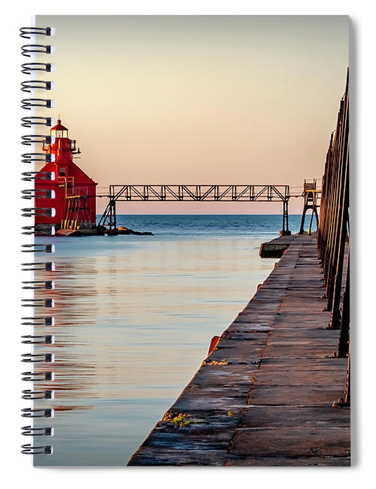 Lighthouse Spiral Notebook featuring the photograph 20-0611-0393 by Anthony Roma