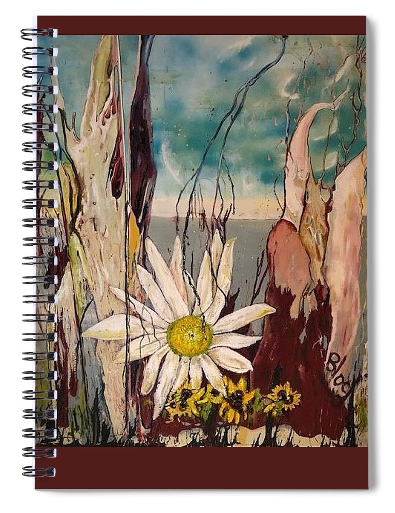 Trees Spiral Notebook featuring the painting A Moment by Peggy Blood