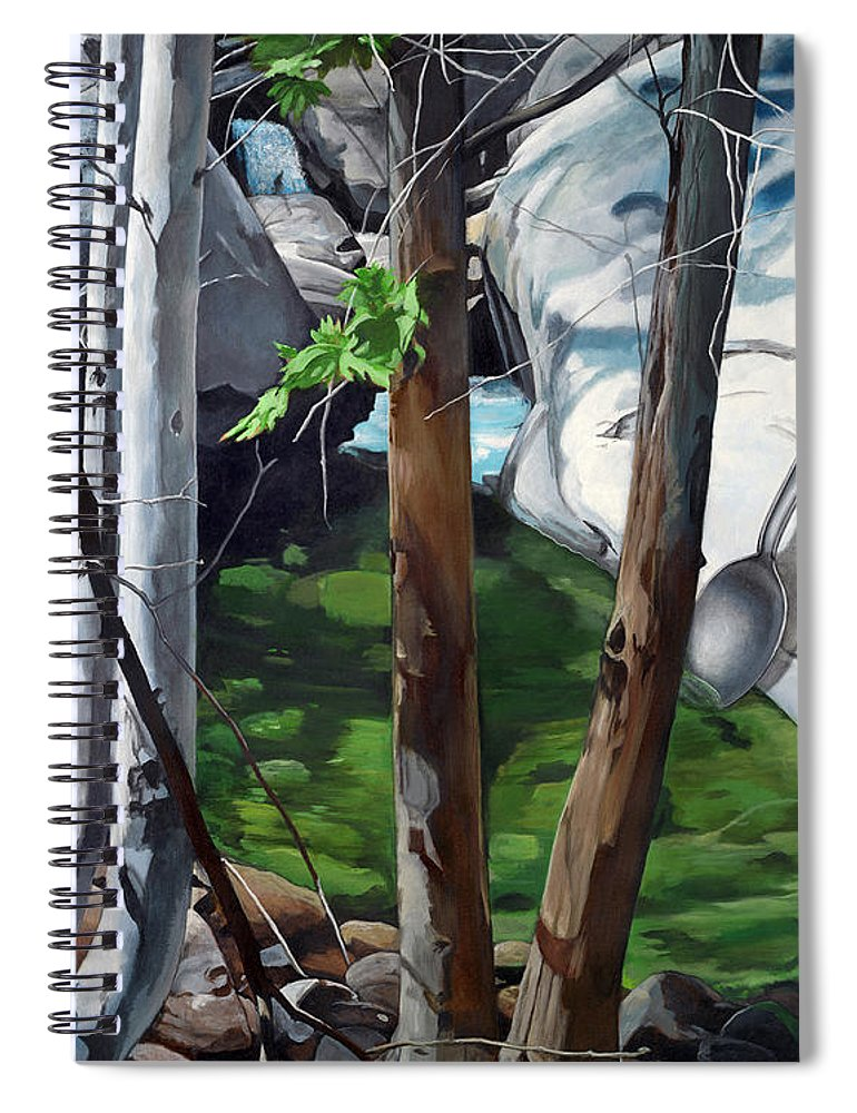Landscape Spiral Notebook featuring the painting A Taste of Nature by Snake Jagger