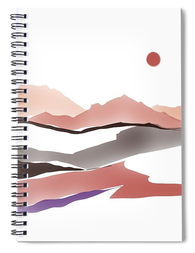 Southwestern Spiral Notebook featuring the painting Abstract Rocks by Luisa Millicent