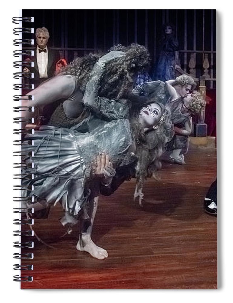 Adams Family Spiral Notebook featuring the photograph Adams Family Dance by Alan D Smith
