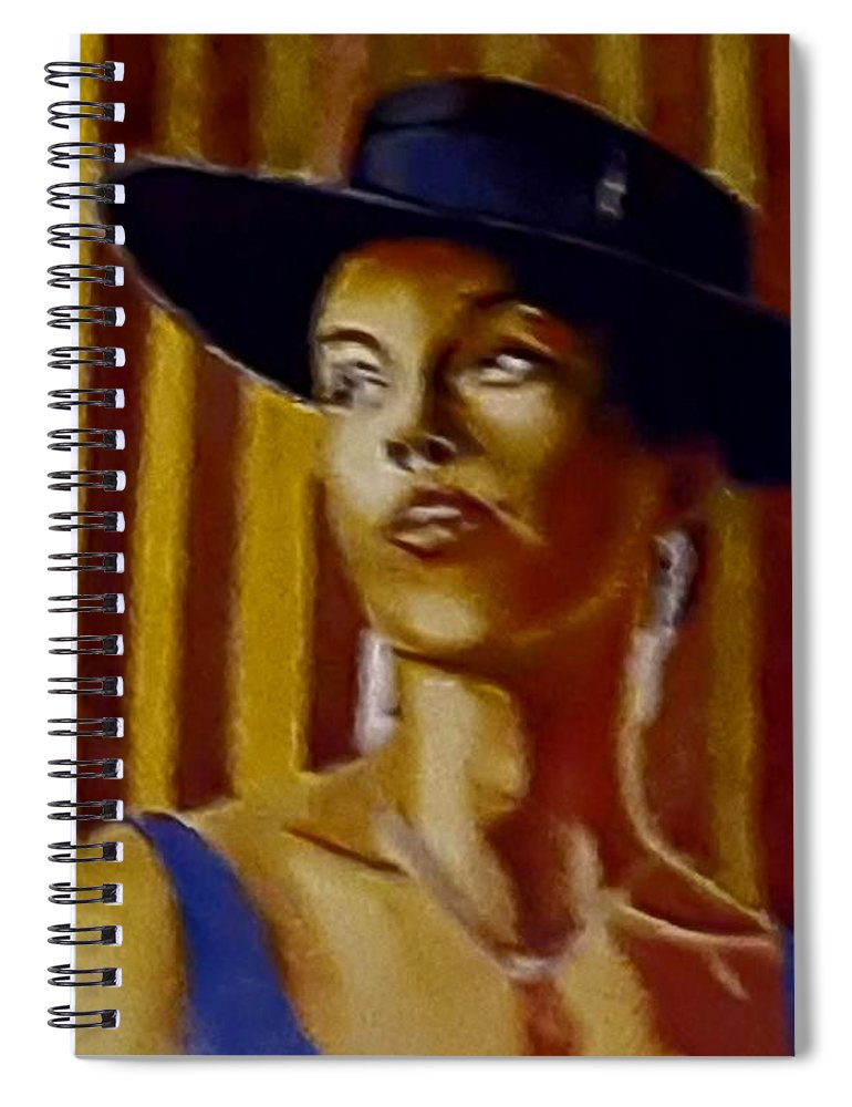 Portrait Spiral Notebook featuring the painting Alica by Andrew Johnson