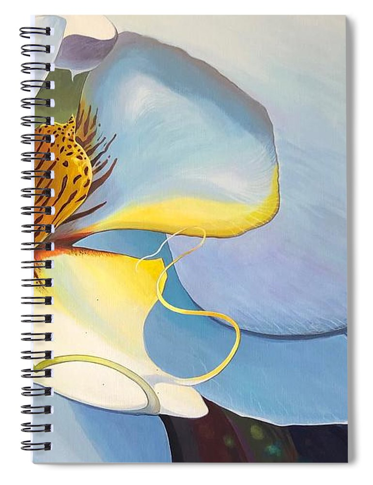 Orchid Spiral Notebook featuring the painting All You Need is Now by Hunter Jay