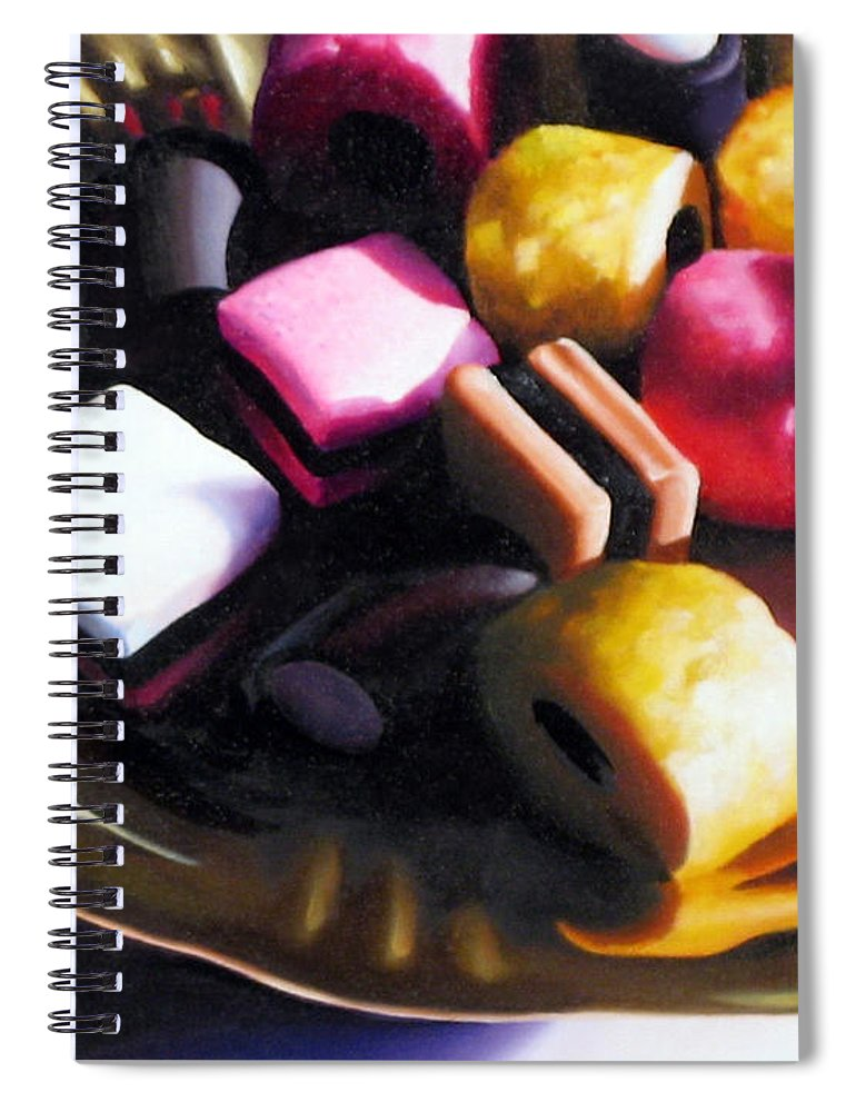 Allsorts Spiral Notebook featuring the pastel Allsorts of Colour by Dianna Ponting
