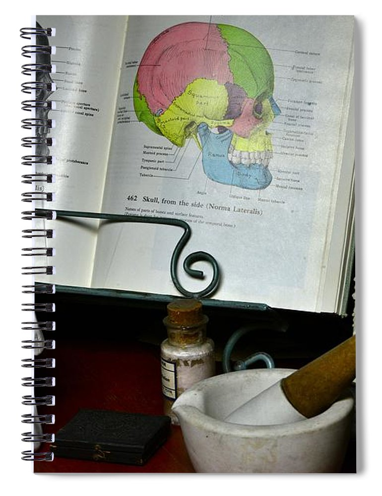 Paul Ward Spiral Notebook featuring the photograph Anatomy Of The Human Skull Side View by Paul Ward
