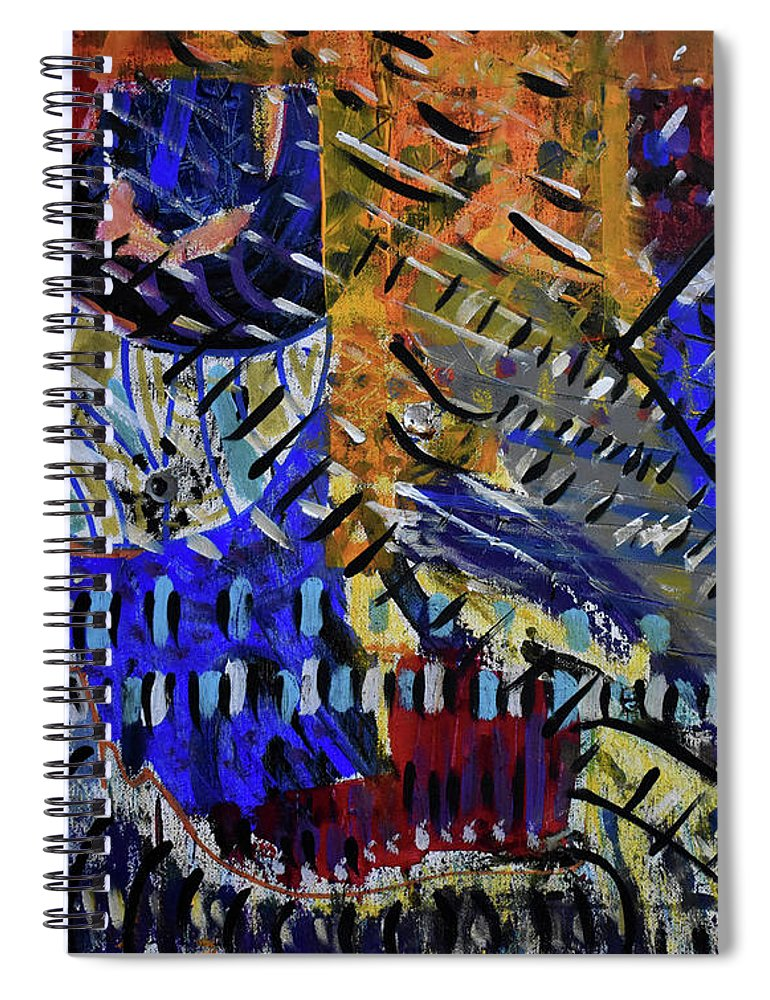 Colorado Spiral Notebook featuring the painting And Then It Rained by Pam Roth O'Mara