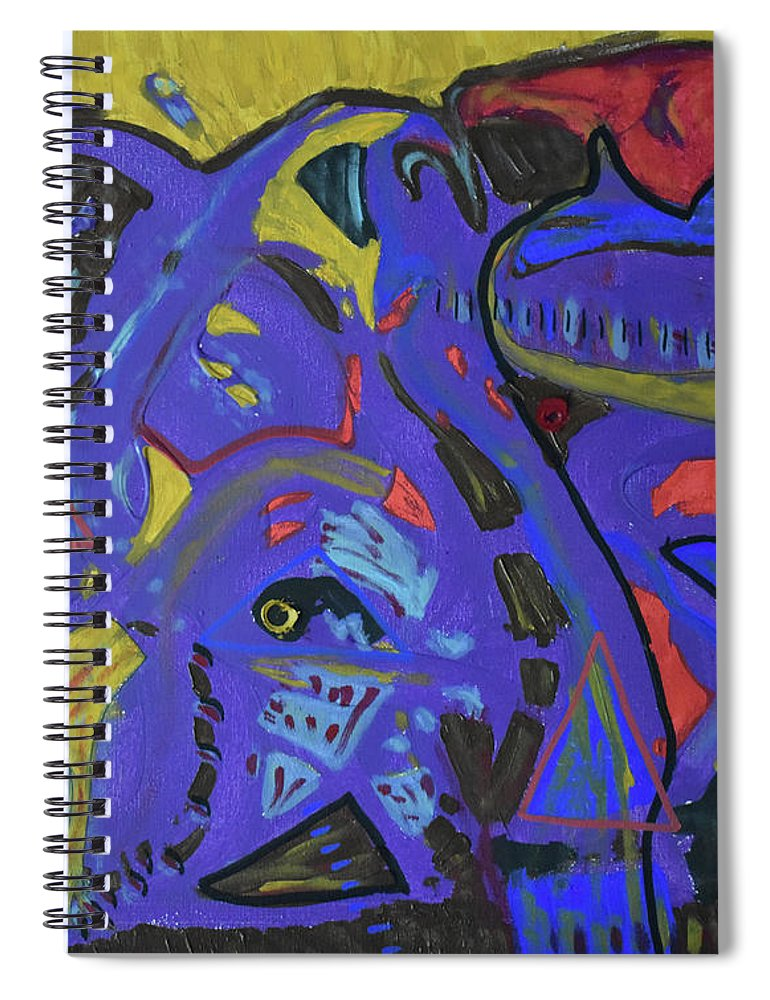 Colorado Spiral Notebook featuring the painting Apparition by Pam Roth O'Mara