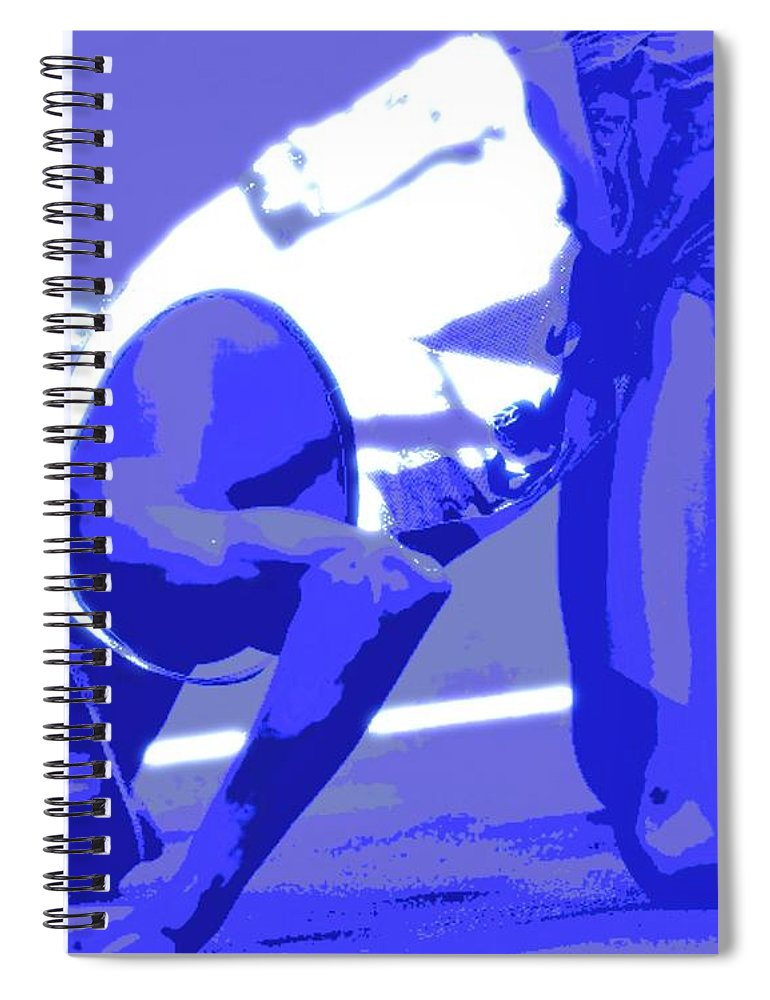 Pray Spiral Notebook featuring the painting Athletes and Prayer by Jack Bunds