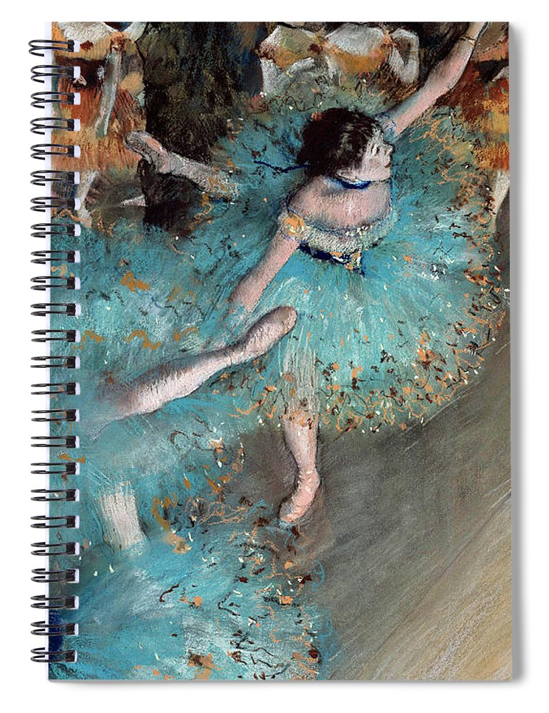 Degas Spiral Notebook featuring the painting Ballerina on pointe by Edgar Degas
