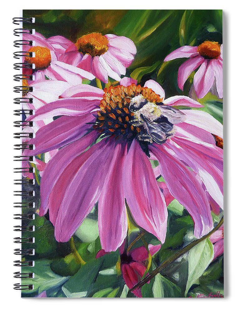 Bee Spiral Notebook featuring the painting Bee Conscious by Brittany Bert Selfe