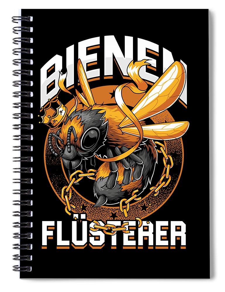 Bee Spiral Notebook featuring the digital art Bienen Flsterer Bee Beekeeper Honeycomb Gift by Thomas Larch