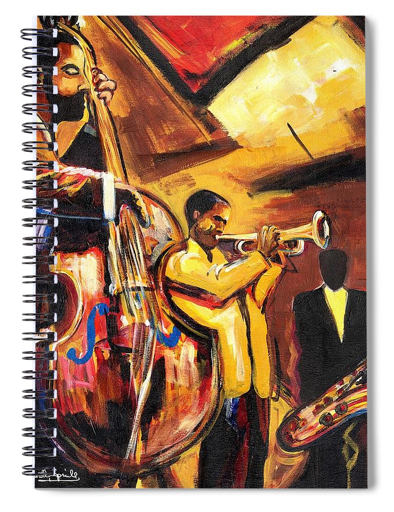 Everett Spruill Spiral Notebook featuring the painting Birth Of Cool by Everett Spruill