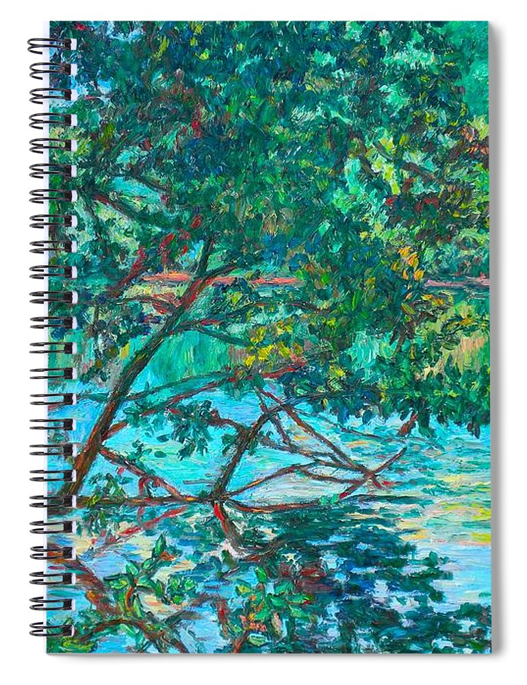 Landscape Spiral Notebook featuring the painting Bisset Park by Kendall Kessler