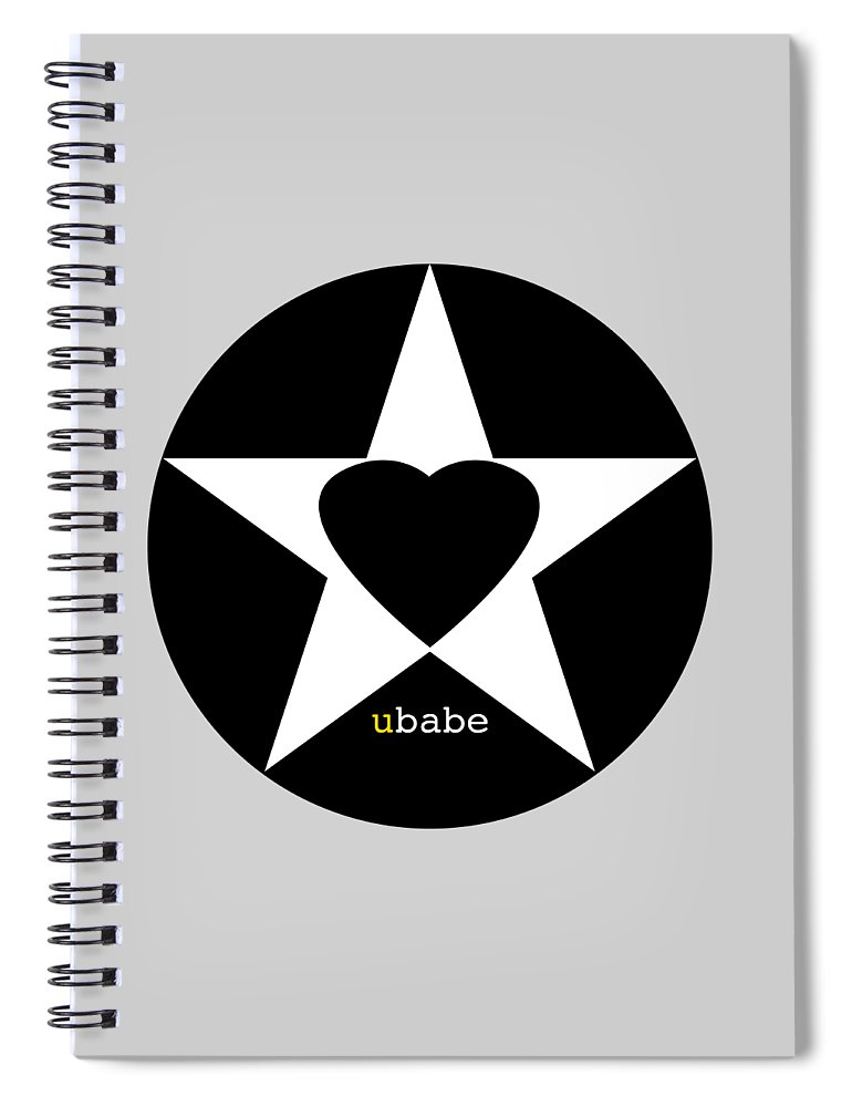 American Love Heart Spiral Notebook featuring the painting Black love by Charles Stuart