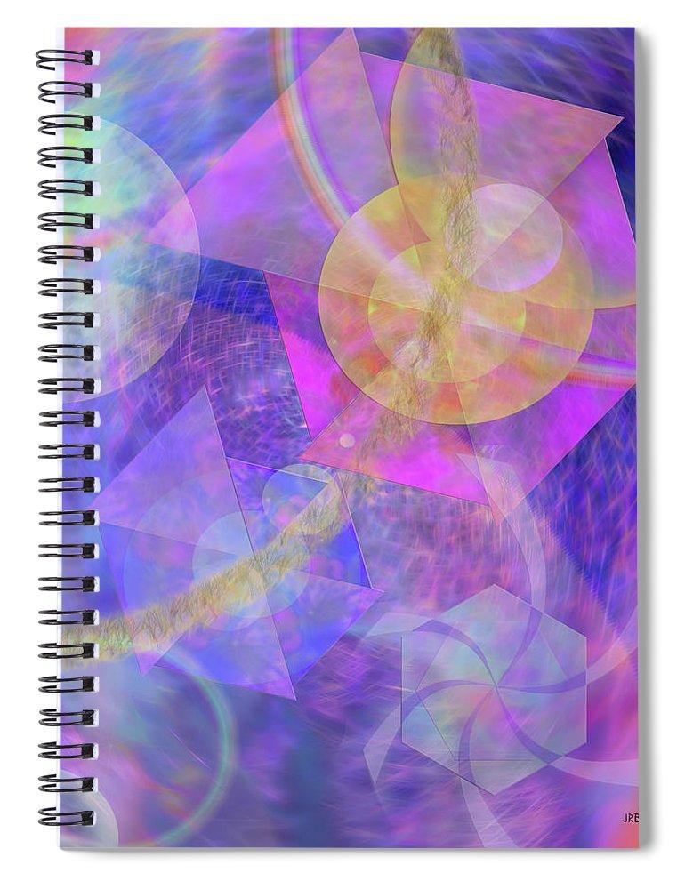Blue Expectations Spiral Notebook featuring the digital art Blue Expectations by John Robert Beck