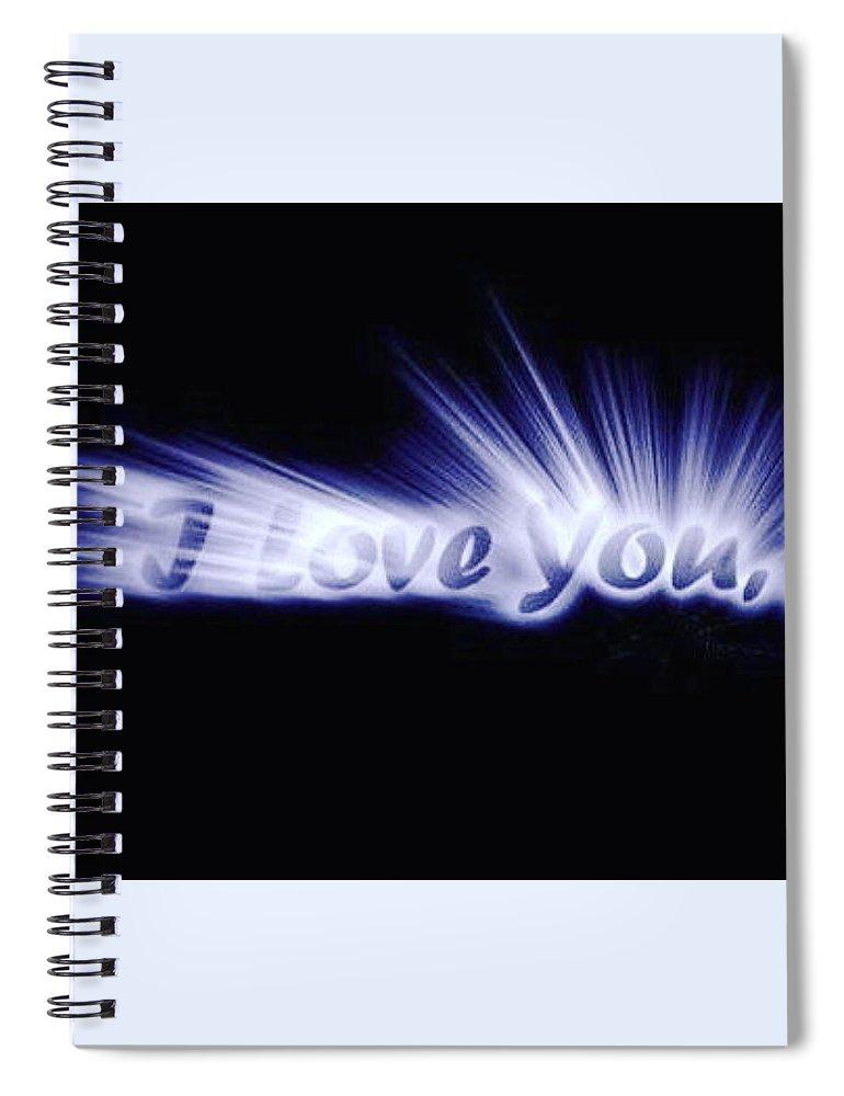 Love Spiral Notebook featuring the digital art Burst Of Love by Ariana Torralba