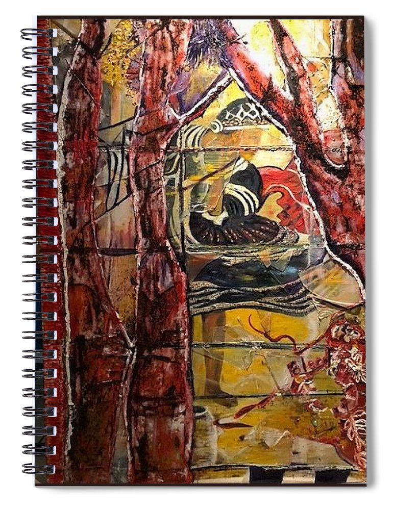 Dancing Spiral Notebook featuring the painting Celebration by Peggy Blood