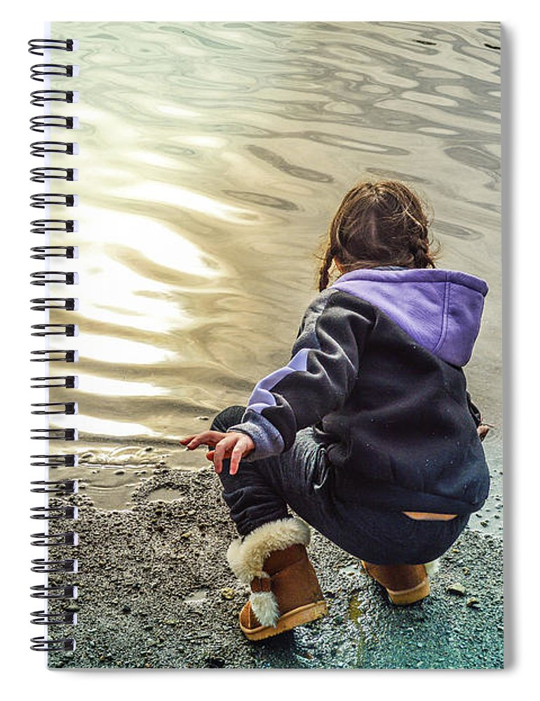 Child Spiral Notebook featuring the photograph Chasing River Rainbows by Cindy Nunn