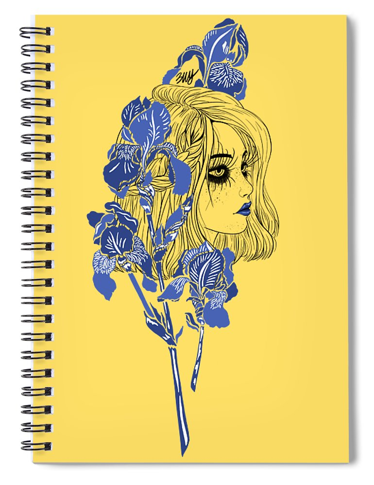 Digital Art Spiral Notebook featuring the digital art China girl by Elly Provolo