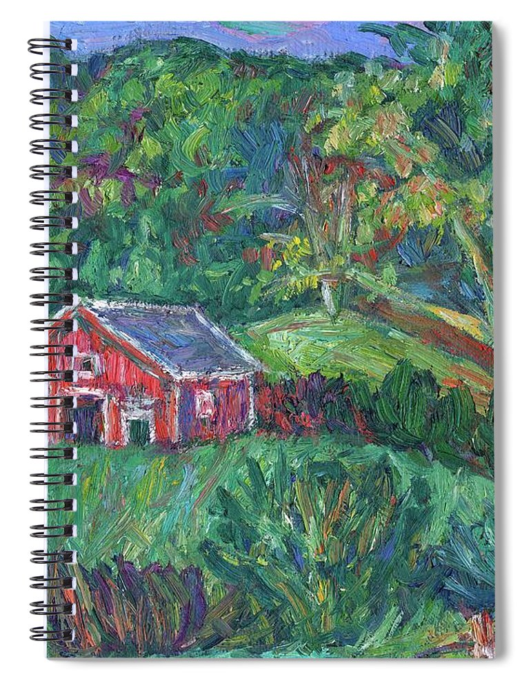 Rural Spiral Notebook featuring the painting Clover Hollow in Giles County by Kendall Kessler
