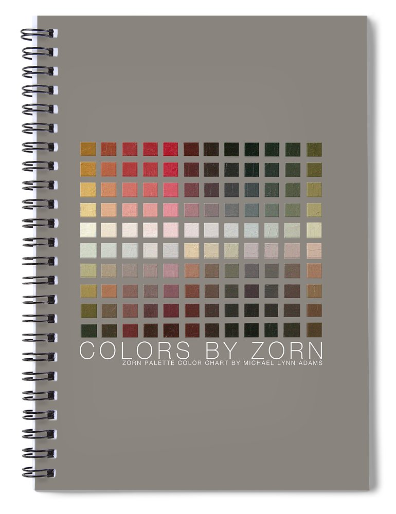 Zorn Color Palette Spiral Notebook featuring the painting Colors By Zorn by Michael Lynn Adams