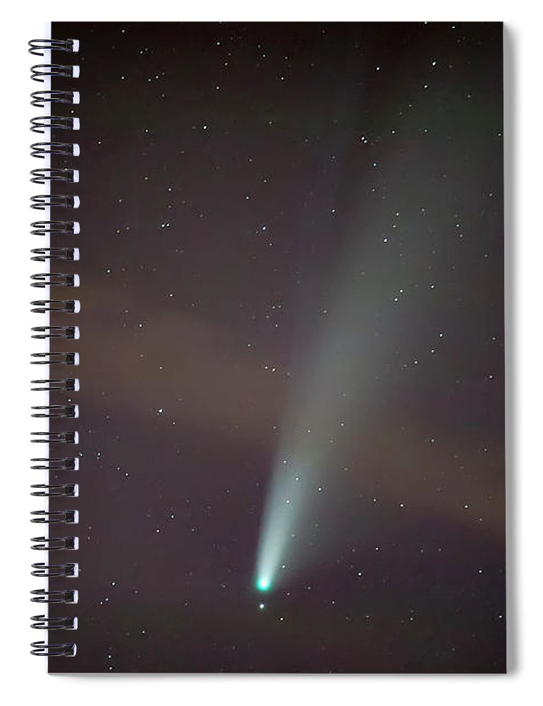 Comet Spiral Notebook featuring the photograph Comet Neowise by Nunzio Mannino