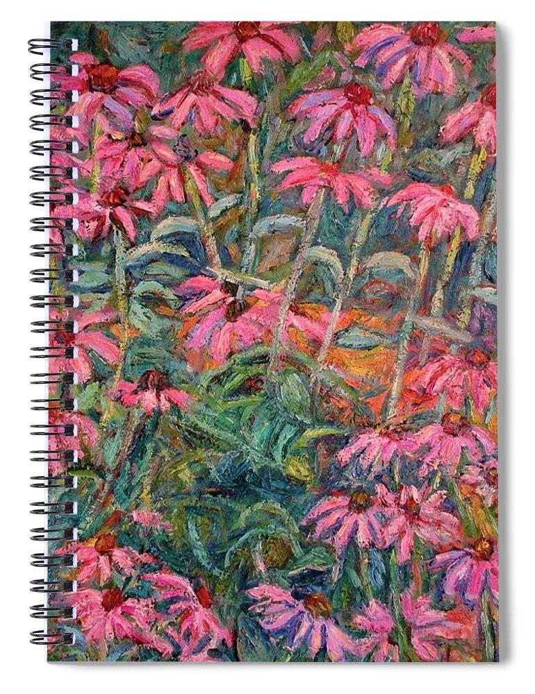 Kendall Kessler Spiral Notebook featuring the painting Coneflowers by Kendall Kessler