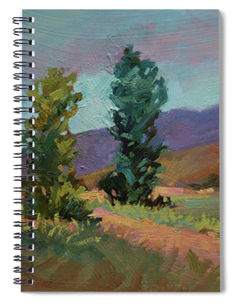 Cottonwood Paintings Spiral Notebook featuring the painting Cottonwoods by Betty Jean Billups