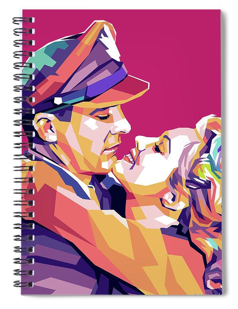 Dana Spiral Notebook featuring the digital art Dana Andrews And Virginia Mayo by Stars on Art