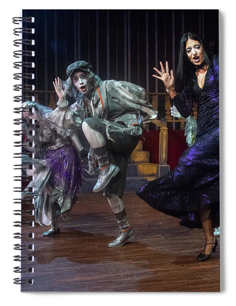 Adams Family Spiral Notebook featuring the photograph Dance With The Relatives by Alan D Smith