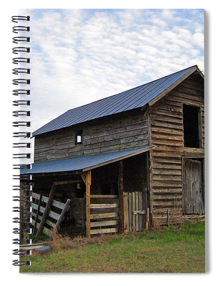 Barn Spiral Notebook featuring the photograph Days Gone By by Suzanne Gaff
