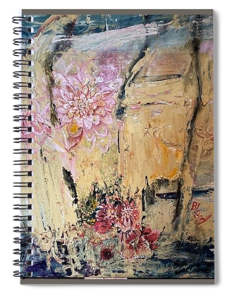 Landscape Spiral Notebook featuring the painting Delilah by Peggy Blood