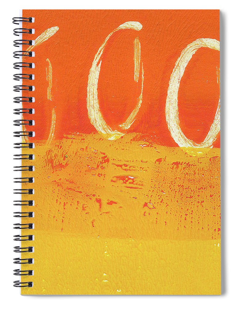 Abstract Spiral Notebook featuring the painting Desert Sun by Linda Woods